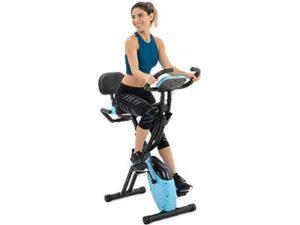 Lanos Folding Exercise Bike with 10-Level Adjustable Magnetic Resistance