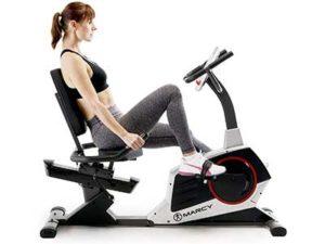 Marcy Regenerating Recumbent Exercise Bike with Adjustable Seat