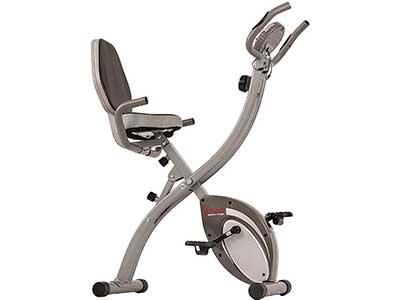 Sunny Health & Fitness Comfort XL Ultra Cushioned Seat Folding Exercise Bike