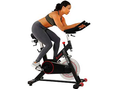 Sunny Health & Fitness Magnetic Belt Drive Indoor Cycling Bike